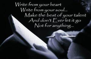 I love writing!